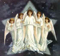 Angelic host at Christ birth.